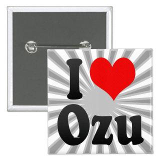 I Love Ozu, Japan. Aisuru Ozu, Japan 2 Inch Square Button