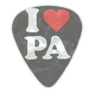 I LOVE PA PEARL CELLULOID GUITAR PICK