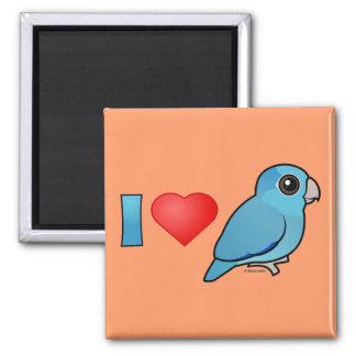 I Love Pacific Parrotlets (blue) Magnet