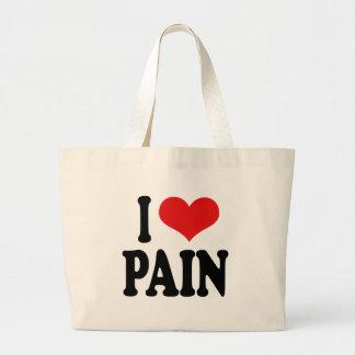 I Love Pain Large Tote Bag
