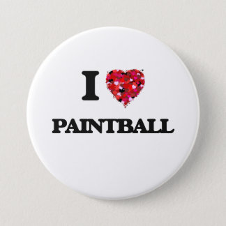 I love Paintball 3 Inch Round Button