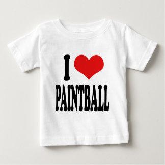 I Love Paintball Baby T-Shirt