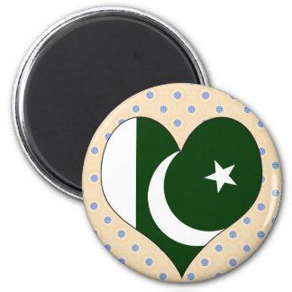 I Love Pakistan 2 Inch Round Magnet