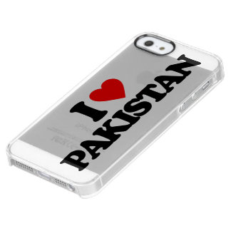 I LOVE PAKISTAN CLEAR iPhone SE/5/5s CASE