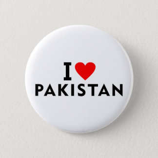 I love Pakistan country like heart travel tourism 2 Inch Round Button