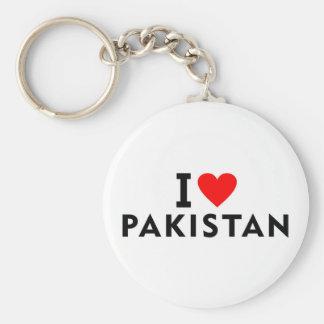 I love Pakistan country like heart travel tourism Keychain