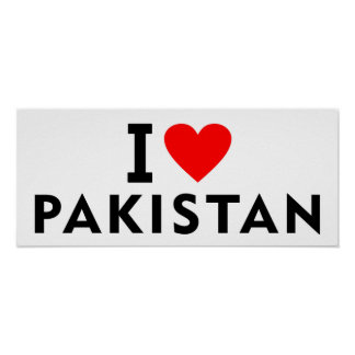I love Pakistan country like heart travel tourism Poster