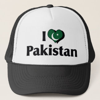 I Love Pakistan Flag Trucker Hat