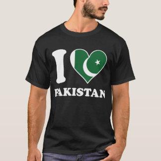 I Love Pakistan Pakistani Flag Heart T-Shirt