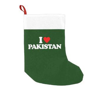 I LOVE PAKISTAN SMALL CHRISTMAS STOCKING