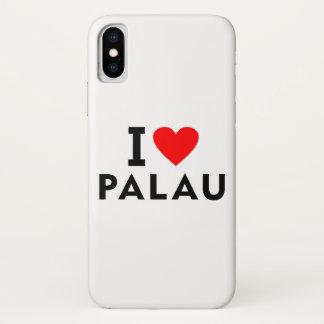 I love Palau country like heart travel tourism iPhone X Case