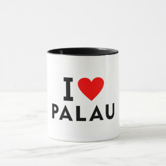 I love Palau country like heart travel tourism Mug
