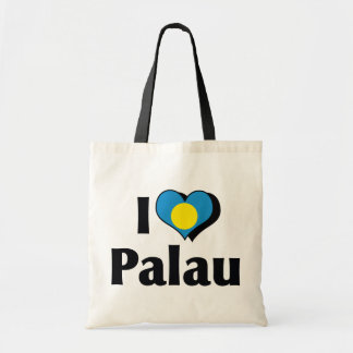I Love Palau Flag Tote Bag