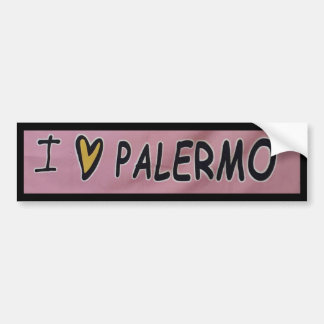 I love Palermo Design Bumper Sticker
