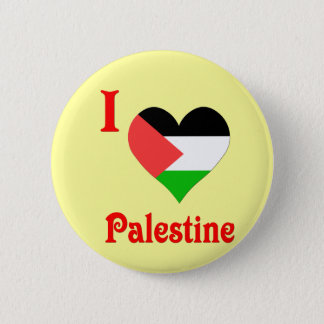 I Love Palestine Flag 2 Inch Round Button