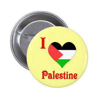 I Love Palestine Flag 2 Inch Round Button