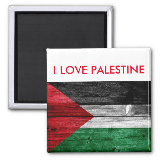 I Love Palestine Flag Fridge Magnet Souvenir