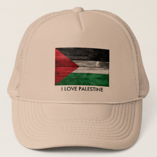 I Love Palestine Flag Trucker Hat Men Cap