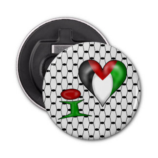 I love Palestine I Heart Palestine Button Bottle Opener