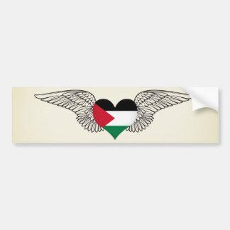 I Love Palestine -wings Bumper Sticker