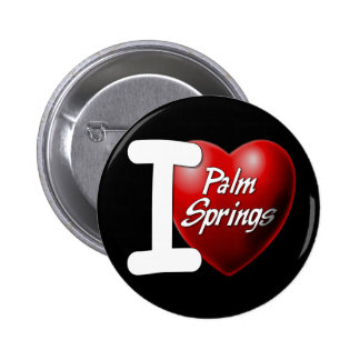I Love Palm Springs 2 Inch Round Button
