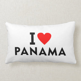 I love Panama country like heart travel tourism Lumbar Pillow