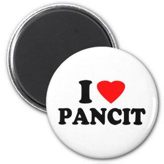 I Love Pancit 2 Inch Round Magnet