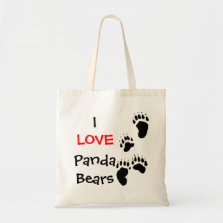 I love panda bears tote bag