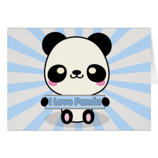 I Love Panda Card
