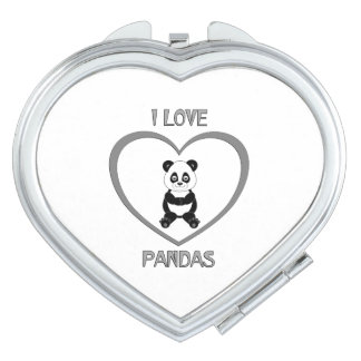 I Love Pandas Mirrors For Makeup