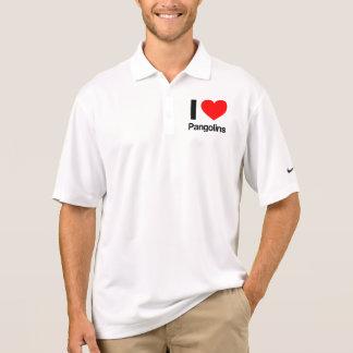 i love pangolins polo shirt