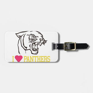 I Love Panthers Luggage Tag