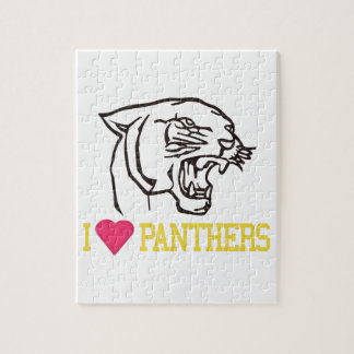 I Love Panthers Puzzle