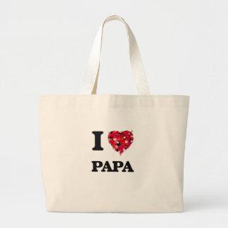 I Love Papa Jumbo Tote Bag