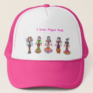 I Love Paper Doll !! Trucker Hat