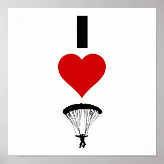 I Love Parachuting (Vertical) Poster