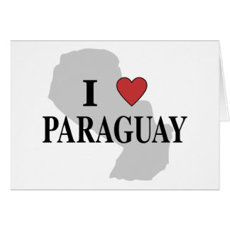I Love Paraguay Card