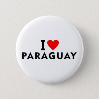 I love Paraguay country like heart travel tourism 2 Inch Round Button