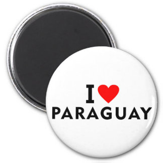 I love Paraguay country like heart travel tourism Magnet