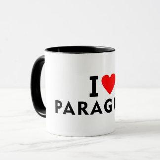 I love Paraguay country like heart travel tourism Mug