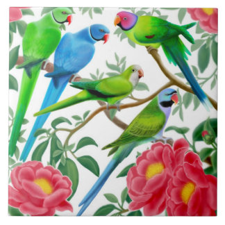 I Love Parakeets Tile