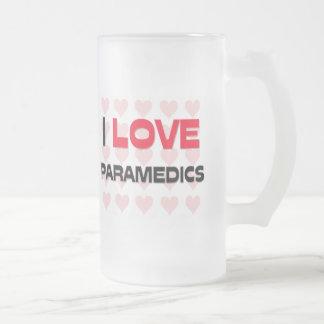 I LOVE PARAMEDICS COFFEE MUGS