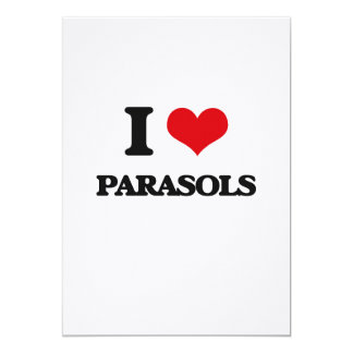 "I Love Parasols 5"" X 7"" Invitation Card"