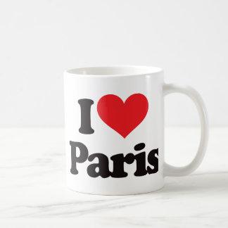 I Love Paris Basic White Mug