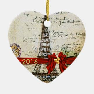 I LOVE PARIS CHRISTMAS Ornament CUSTOM CHIC 2016