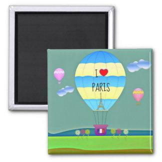I Love Paris, Colorful Hot Air Balloon Magnet