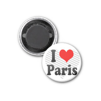 I Love Paris, France 1 Inch Round Magnet