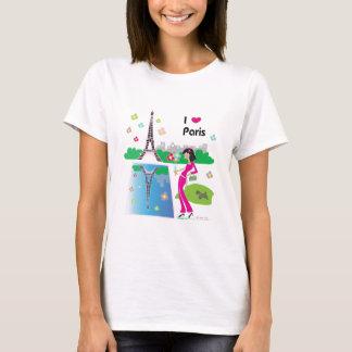 I love Paris, France T-Shirt