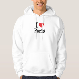 I love Paris heart custom personalized Pullover