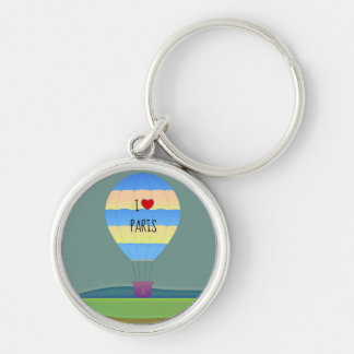 I Love Paris Hot Air Balloon Keychain
